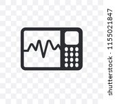 cardiogram vector icon isolated ... | Shutterstock .eps vector #1155021847