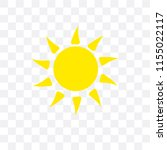 sun vector icon isolated on... | Shutterstock .eps vector #1155022117