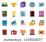 colored vector icon set  ... | Shutterstock .eps vector #1155023077