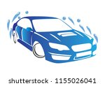 awesome car wash logo template   Shutterstock .eps vector #1155026041