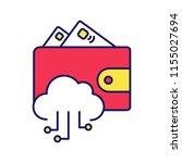 e wallet color icon. online...   Shutterstock .eps vector #1155027694