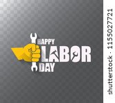 labor day usa vector label or... | Shutterstock .eps vector #1155027721