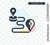 route vector icon isolated on... | Shutterstock .eps vector #1155030004