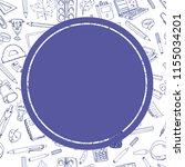 back to school sale flyer card. ... | Shutterstock . vector #1155034201