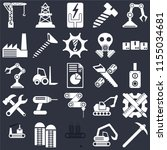 set of 25 icons such as pick ...