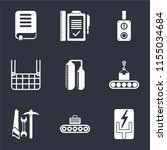 set of 9 simple icons such as... | Shutterstock .eps vector #1155034684