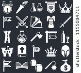set of 25 icons such as money...