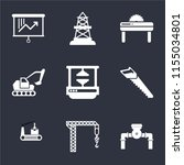 set of 9 simple icons such as... | Shutterstock .eps vector #1155034801