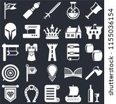 set of 25 icons such as wine ...