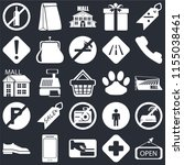 set of 25 icons such as open ...