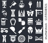 set of 25 icons such as bridge  ...