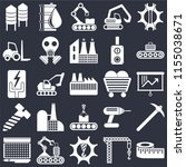 set of 25 icons such as measure ...