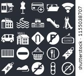 set of 25 icons such as no turn ...