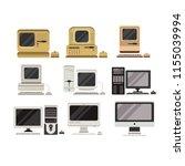 computers set  pc evolution... | Shutterstock .eps vector #1155039994