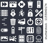 set of 25 icons such as cloud...