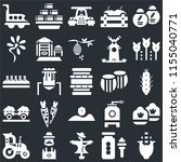 set of 25 icons such as corn ...