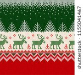 ugly sweater merry christmas... | Shutterstock .eps vector #1155041467