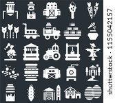set of 25 icons such as beehive ...