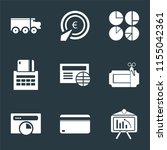 set of 9 simple icons such as... | Shutterstock .eps vector #1155042361