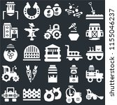 set of 25 icons such as tractor ...