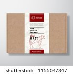 fine quality organic beef craft ... | Shutterstock .eps vector #1155047347