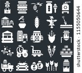 set of 25 icons such as milk ...