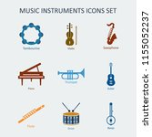 colored music instruments icons ... | Shutterstock . vector #1155052237