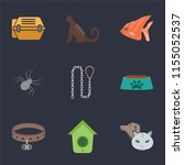 set of 9 simple icons such as... | Shutterstock .eps vector #1155052537
