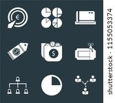 set of 9 simple icons such as... | Shutterstock .eps vector #1155053374