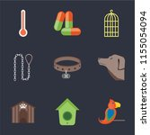 set of 9 simple icons such as... | Shutterstock .eps vector #1155054094