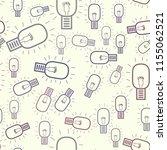 seamless bulb illustrations... | Shutterstock .eps vector #1155062521