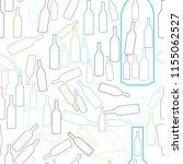 seamless bottle background hand ... | Shutterstock .eps vector #1155062527