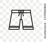 shorts vector icon isolated on... | Shutterstock .eps vector #1155064864
