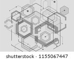 hexagon geometric design with... | Shutterstock .eps vector #1155067447