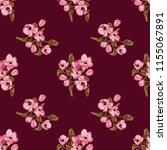 seamless vector ornamental... | Shutterstock .eps vector #1155067891