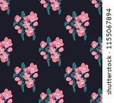 seamless vector ornamental... | Shutterstock .eps vector #1155067894