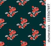 seamless vector ornamental... | Shutterstock .eps vector #1155067897