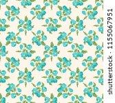 seamless vector ornamental... | Shutterstock .eps vector #1155067951