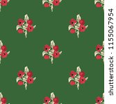 seamless vector ornamental... | Shutterstock .eps vector #1155067954