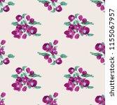 seamless vector ornamental... | Shutterstock .eps vector #1155067957