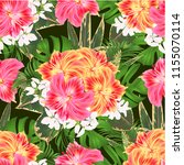 seamless texture bouquet with... | Shutterstock .eps vector #1155070114