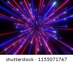 3d render  big bang  galaxy ... | Shutterstock . vector #1155071767