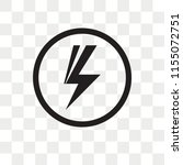 shock vector icon isolated on... | Shutterstock .eps vector #1155072751