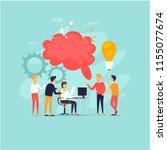 teamwork  brainstorming  a... | Shutterstock .eps vector #1155077674
