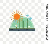 sunny vector icon isolated on... | Shutterstock .eps vector #1155077887