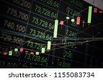 charts of stock market...   Shutterstock . vector #1155083734