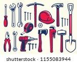 set of worker hand tools | Shutterstock .eps vector #1155083944
