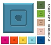 grab object engraved icons on... | Shutterstock .eps vector #1155085501