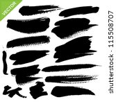 brush strokes vector | Shutterstock .eps vector #115508707