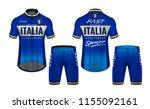 cycling jerseys mockup t shirt... | Shutterstock .eps vector #1155092161